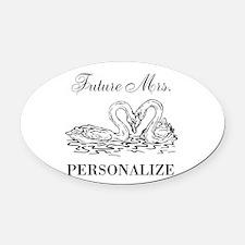 Future Mrs wedding bride Oval Car Magnet