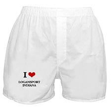 I love Logansport Indiana Boxer Shorts