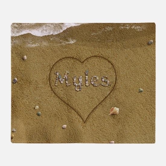 Myles Beach Love Throw Blanket