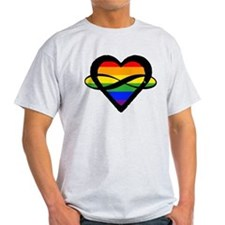 Poly Rainbow Heart (without text) T-Shirt