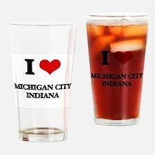 I love Michigan City Indiana Drinking Glass