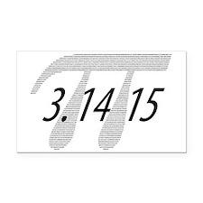 Pi Rectangle Car Magnet