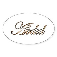 Gold Abdul Decal