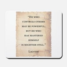 LAO-TZE QUOTE Mousepad
