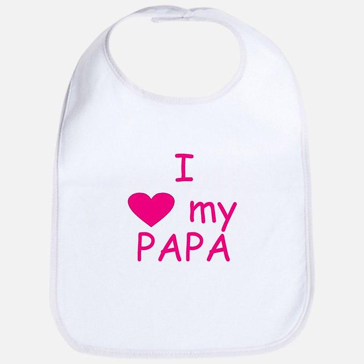 I love my papa pink Bib