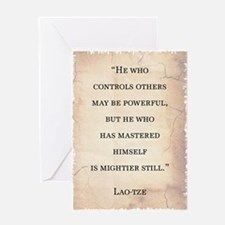 LAO-TZE QUOTE Greeting Card