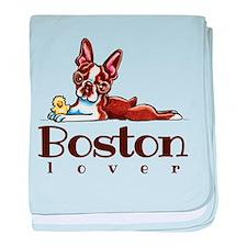 Colored Boston Lover baby blanket