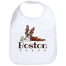 Colored Boston Lover Bib
