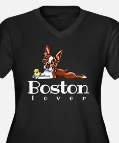 Colored Boston Lover Plus Size T-Shirt