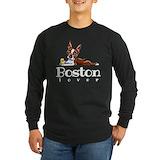 Boston terrier Long Sleeve T-shirts (Dark)