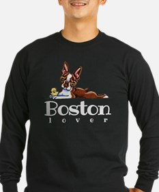 Colored Boston Lover Long Sleeve T-Shirt