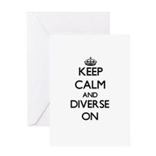 Keep Calm and Diverse ON Greeting Cards