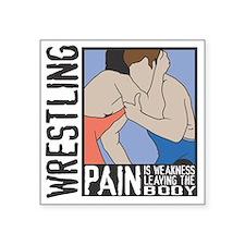 "Wrestling Pain Square Sticker 3"" x 3"""