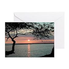 Sunset Carmel, Ca. Greeting Card