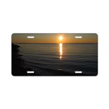 NL Sunset Aluminum License Plate