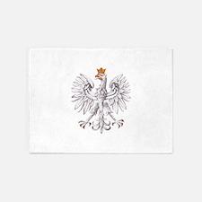 Poland Coat of arms 5'x7'Area Rug