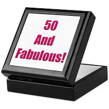 50 and Fabulous Keepsake Box