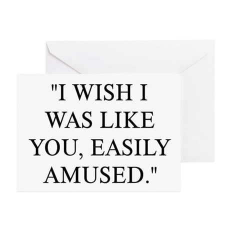 EASILY AMUSED Greeting Cards (Pk of 20)