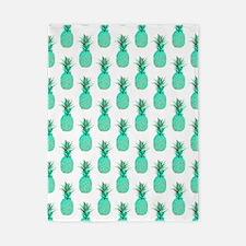 Mint Pineapples, Twin Duvet