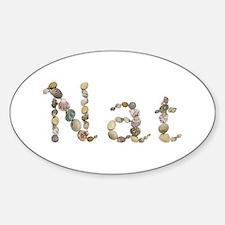 Nat Seashells Oval Decal