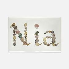 Nia Seashells Rectangle Magnet