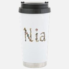 Nia Seashells Ceramic Travel Mug