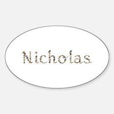 Nicholas Seashells Oval Decal
