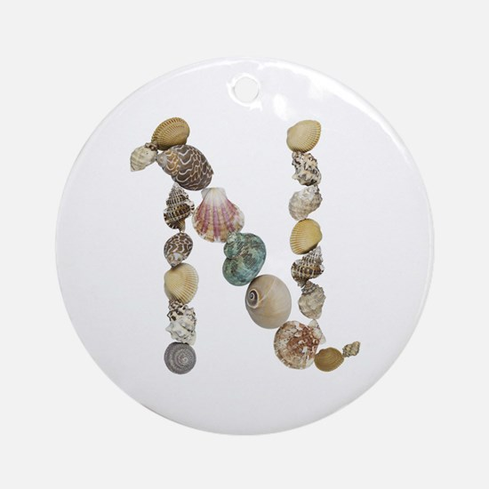 N Seashells Round Ornament