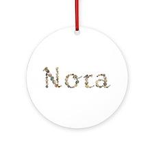 Nora Seashells Round Ornament