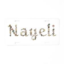 Nayeli Seashells Aluminum License Plate