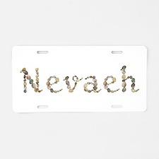Nevaeh Seashells Aluminum License Plate