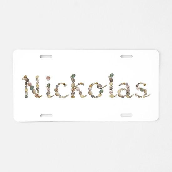 Nickolas Seashells Aluminum License Plate