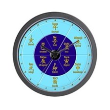 """""""Old Hours of Japan"""" Wall Clock (with English)"""