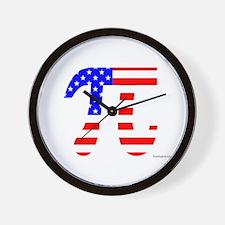American Pi Wall Clock