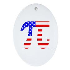 American Pi Ornament (Oval)