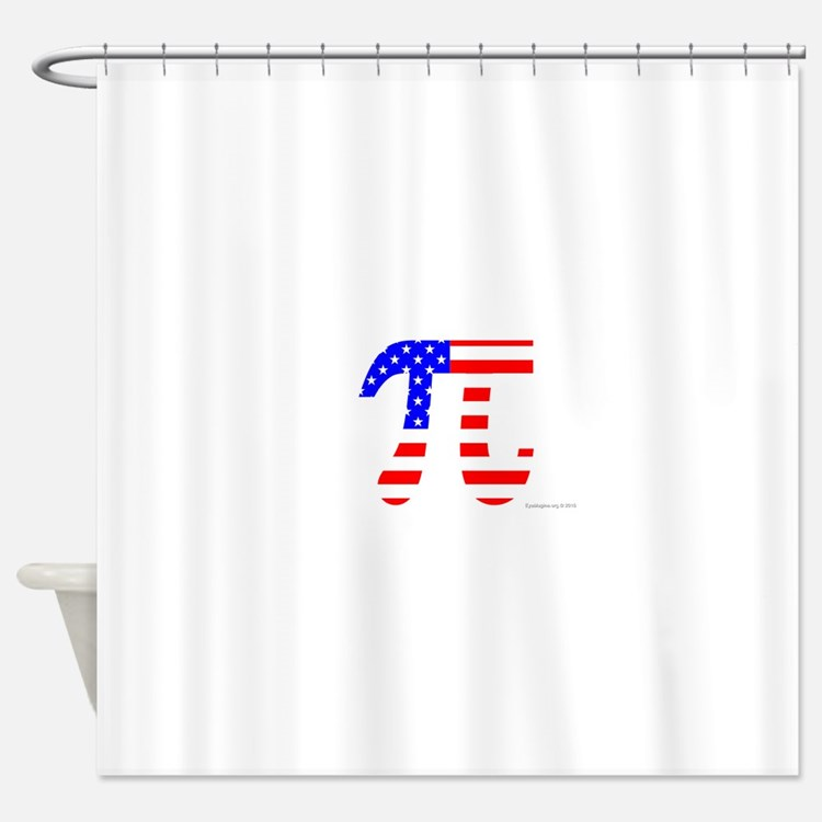 American Pi Shower Curtain