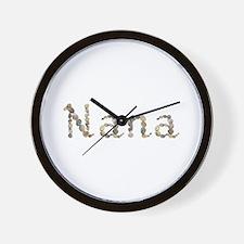 Nana Seashells Wall Clock