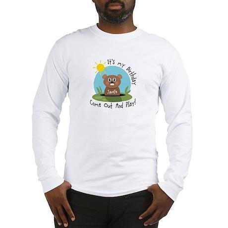 Janelle birthday (groundhog) Long Sleeve T-Shirt