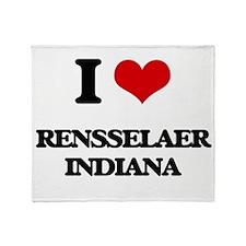 I love Rensselaer Indiana Throw Blanket