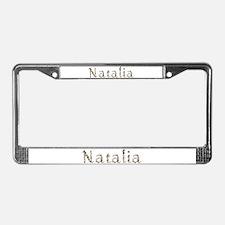 Natalia Seashells License Plate Frame