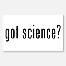 got science? Rectangle Decal