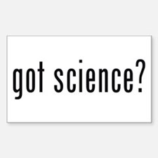 got science? Rectangle Stickers