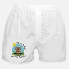 Lauren birthday (groundhog) Boxer Shorts