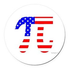 American Pi Round Car Magnet