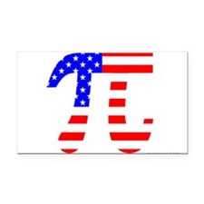 American Pi Rectangle Car Magnet