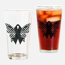 BLACK RIBBON Drinking Glass