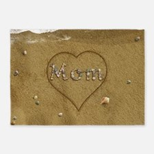 Mom Beach Love 5'x7'Area Rug