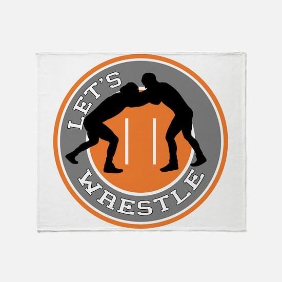 Let's Wrestle Throw Blanket