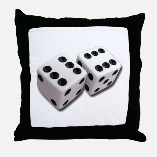 Lucky Dice Throw Pillow