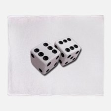 Lucky Dice Throw Blanket